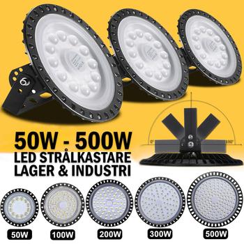 Industri LED belysning för 240V valbar 50W, 100W, 200W, 300W och 500W för lager, verkstad och industri