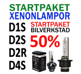 ÅF startpaket 50% REA storpack Original E-märkta Xenonlampor lampsockel D1S, D2S, D2R, D4S