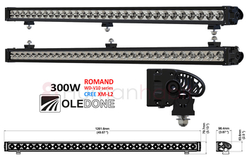 20-300W LED ramp CREE Oledone Romand V10-series