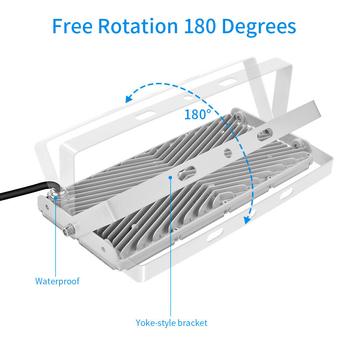 Modulär vinklingsbar 230V LED strålkastare med frostad frontglas valbar 100, 200 samt 300W