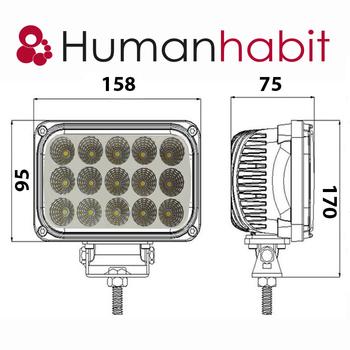45W LED arbetsbelysning 60° 9-32V - L0089