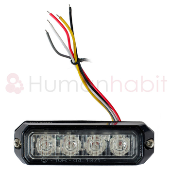 LED blixtljus 95x28mm ECE R10  R65 LW0025-ALR