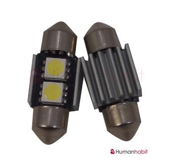 31mm spollampa Canbus med 2st 5050 SMD med kylfläns non-polarized
