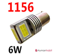 Ba15s COB 6W Super bright 9-30V