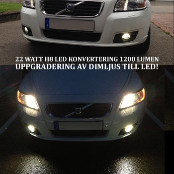 H11 LED konvertering 22 Watt 1800 Lumen