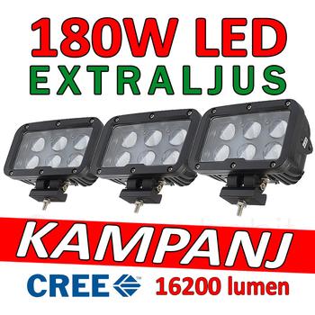 3 pack 60W CREE LED extraljus 16200 lumen L0107