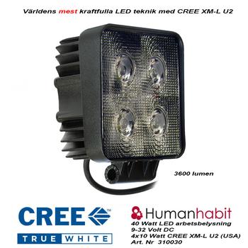 40W LED arbetsbelysning 45° CREE 12-24V