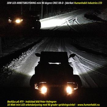 72W LED arbetsbelysning / backljus 60° 9-32V