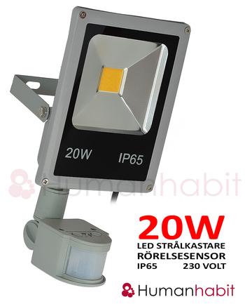 230 Volt LED strålkastare valbar 10, 20, 30, 50, 100W