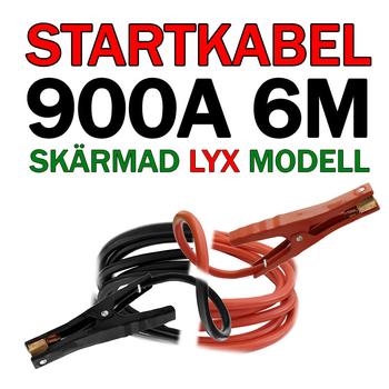 Lyxig 6 meters helskärmad startkabel 900 Ampere