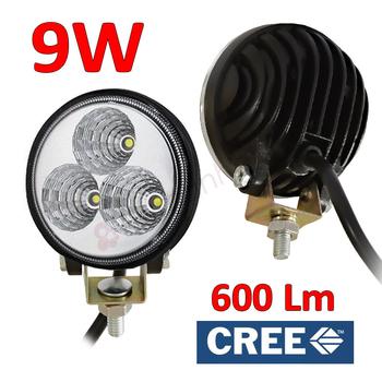 9W CREE LED valbar spot extraljus eller flood arbetsbelsning 600 lumen
