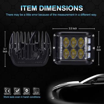 2 pack 60W CREE miniatyr LED extraljus  spot med 120° vidvinkel 9-32V