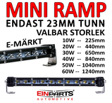 Ultra tunn LED ramp endast 23mm höjd 30 grader spot 9-32V