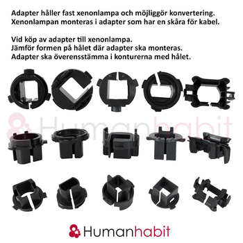 H7 adapter Citroen C5, Peugeot 3008 508, Ford Mondeo