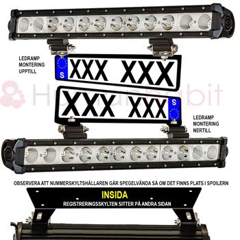 Kompakt modell universalfäste för 2 st extraljus eller ledramp