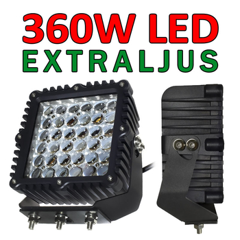 360W LED CREE extraljus Heavy Duty Extreme 4D optik 32400Lm 9-32V