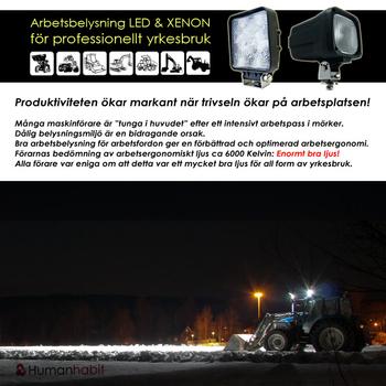 18W LED arbetsbelysning 60° Epistar 12-24V