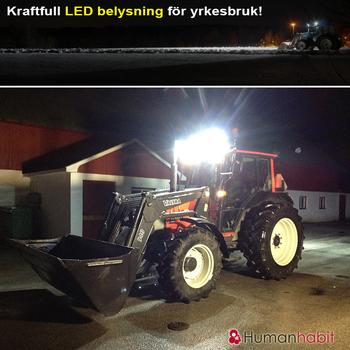 24W LED arbetsbelysning 60° Epistar 12-24V