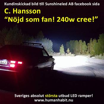 40W LED extraljusramp COMBO 9-32V 3600Lm LB0017