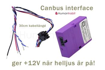 Volvo V40 canbus interface helljussignal till reläkabel +12V