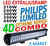 210-480W LED ramp Philips Extreme 4D fäste undertill E-märkt Einparts