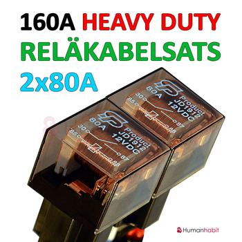 Reläkabelsats 160A Heavy Duty för 5st extraljus eller 5st xenon ballast (drivdon)