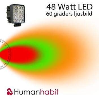 48W E-märkt CREE LED arbetsbelysning 30° & 60°