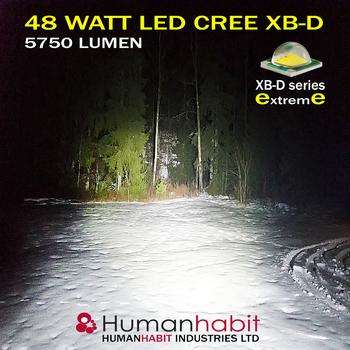 48W CREE LED arbetsbelysning E-märkt valbar spot 30° & flood 60°