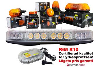 54W LED varningsljus roterande R65 R10 flex fäste ALR0016