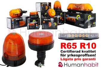 54W LED varningsljus roterande R65 R10 magnetfäste ALR0021