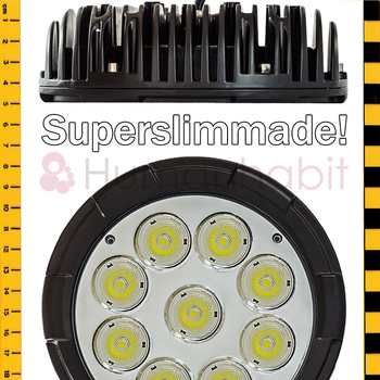 90W LED extraljus slimmad ⌀189,5 mm 10000 lumen