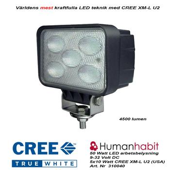 50W LED arbetsbelysning 120° CREE 12-24V