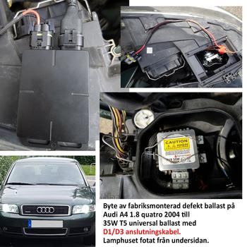 Valbar 35W samt 55W universal ballast E-märkt Lightning Computer för D1, D2, D3, D4 samt AMP