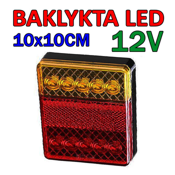 Baklykta LED 12 Volt 100x100mm E4-märkt
