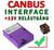 Canbus interface helljussignal till reläkabel +12V