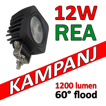 12W CREE LED miniatyr 60° flood 9-32V E-märkt L0105