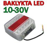Baklykta 10-30 Volt 105x105mm e-märkt