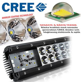 Komplett paket 210W 5D optik LED extraljusramp combo med fäste och kablage