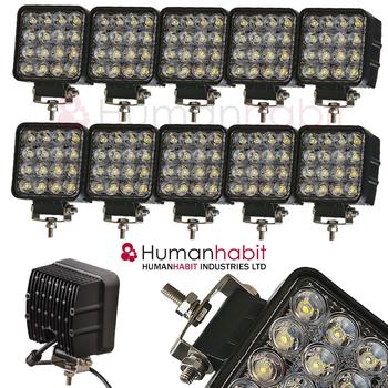 4 pack 48W LED arbetsbelysning 60° CREE 12-24V totalt 23000 lumen