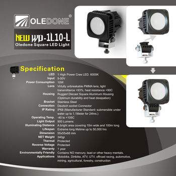 10W CREE mini LED ihopkopplingsbar OLEDONE 9-50V
