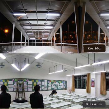 240V LED takarmatur med bredd 30/60/90/120cm valbar 4000, 5000, 6000K