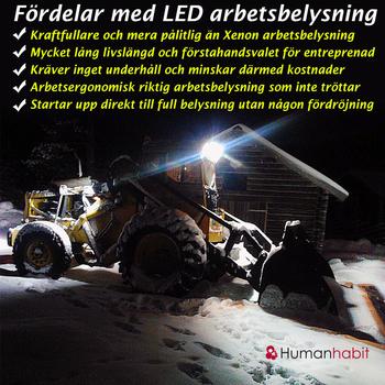 60W LED arbetsbelysning 10° & 90° CREE 12-24V