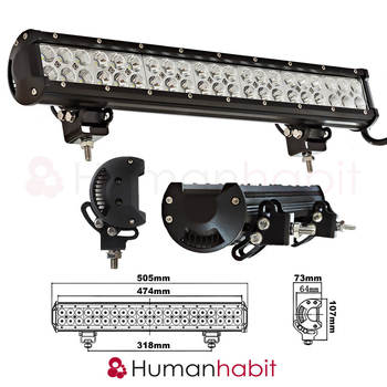 126W LED extraljusramp 505mm CREE 9-32V combo LB0034