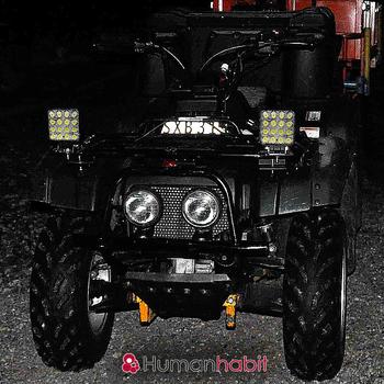 10 pack 48W LED arbetsbelysning  30° 60° CREE 12-24V totalt 57500 lumen