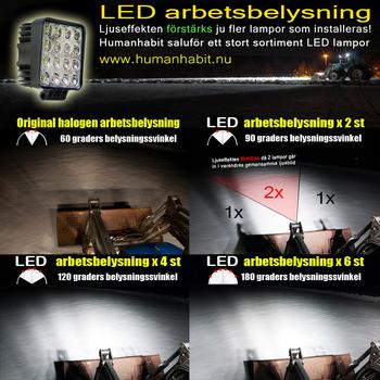 2 pack 48W LED extraljus spot 25° CREE XB-D 12-24V