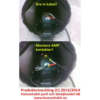 Specialkabel för snygg extraljus xenonkonvertering