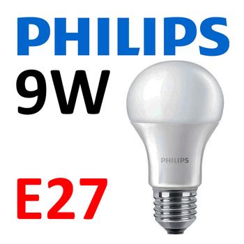 9 Watt Philips CorePro E27 LED lampa 2700 Kelvin 220V 806 lumen motsvarar 60W