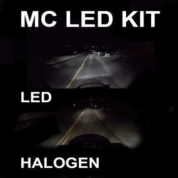 3500 lumen MC LED kit för 9-36V H4 H6 BA20S P15D