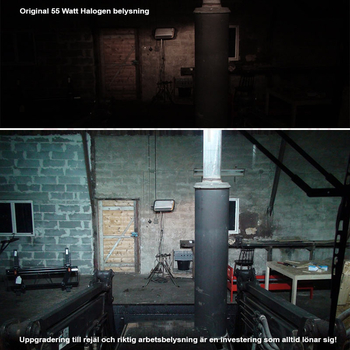 180W 4-radig LED extraljusramp combo 18000 lumen 368mm E-märkt 9-32V