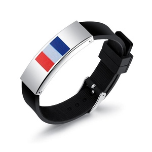 Flag Silicone Bracelets Wristband 2018 WORLD CUP Football Souvenir